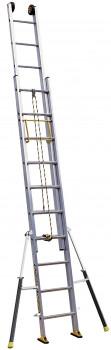 Echelle coulisses 2 plans corde 6.05m