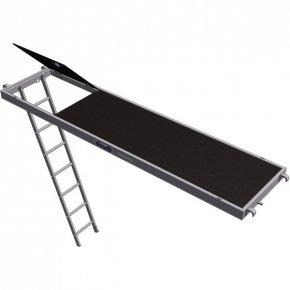 Plancher alu / bois à trappe 0.75 x 3.00 m