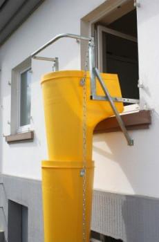 Goulottes d'évacuation de gravats
